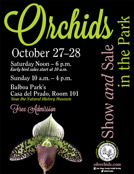 <b>2018 Orchids In The Park<br/> Show & Sale<br/>October 27-28, 2018</b><br/>