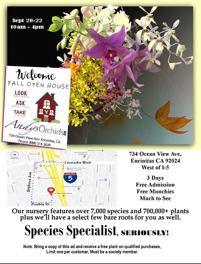 Andys Orchids Fall Open House